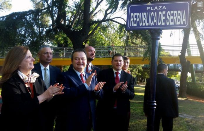 Inauguration Of Square Serbia In Buenos Aires, Ivica Dacic in Argentina