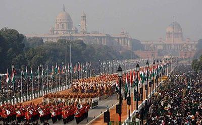 INDIAN REPUBLIC DAY PARADE ON RAJ PATH IN NEW DELHI