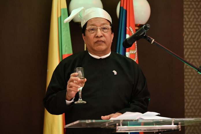U Myo Aye Myanmar Independence Day 2018