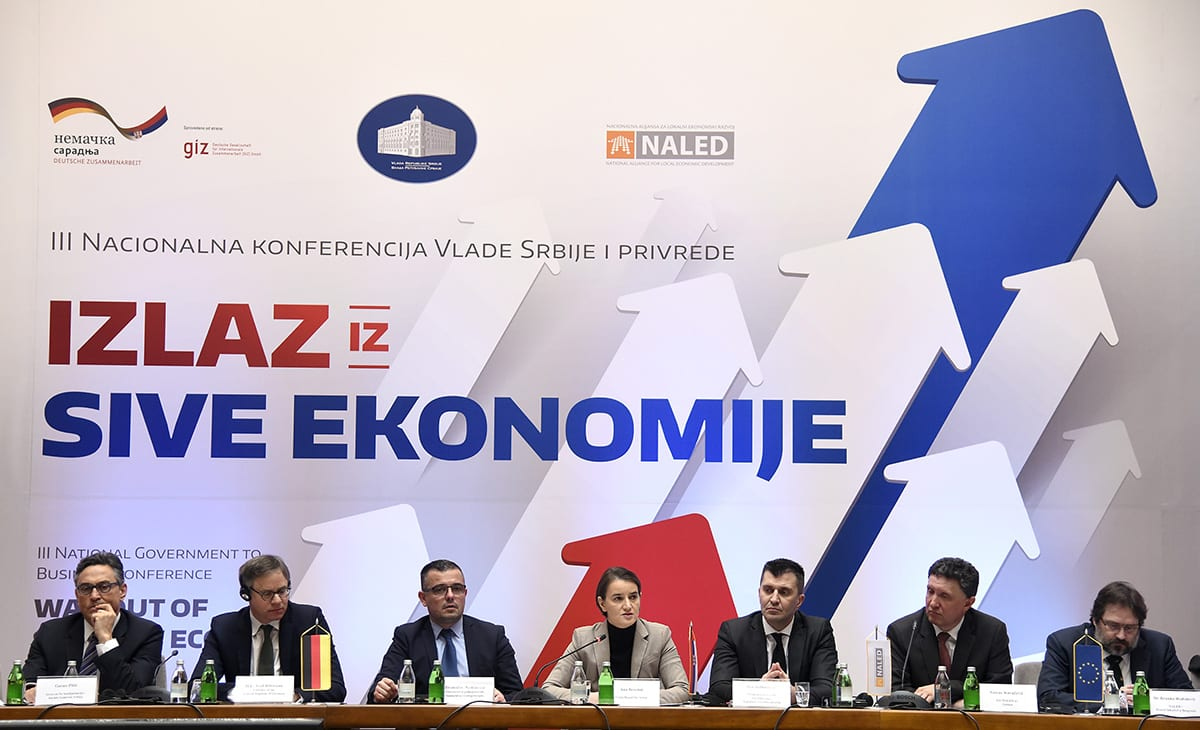 Grey Economy Reduced In The Formal Sector NALED Ana Brnabic Goran Kovacevic