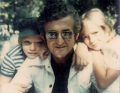 WITH SON DUŠAN & DAUGHTER LANA