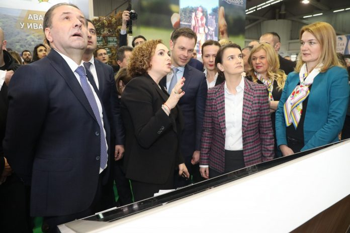 Ana Brnabić Rasim Ljajic Sinisa Mali 40th International Tourism Fair