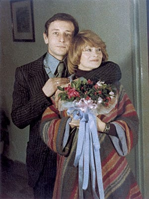 PREDRAG EJDUS WITH HIS BRIDE ON THEIR WEDDING DAY, 1975