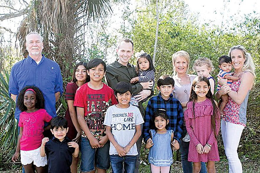 Family Adopts Nine Siblings From Foster Care