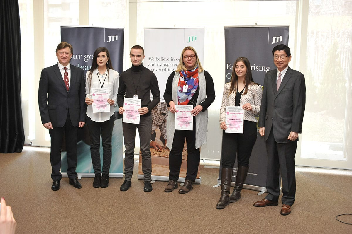Awarded Sakura Scholarships 2018