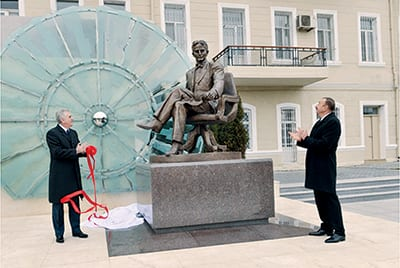THE OPENING CEREMONY OF THE MONUMENT TO THE GREAT SON OF THE SERBIAN PEOPLE, OUTSTANDING SCIENTIST NIKOLA TESLA WAS HELD IN THE CENTER OF BAKU