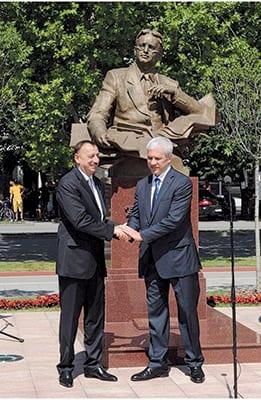 OPENING CEREMONY OF GENIUS COMPOSER UZEYIR HAJIBEYOV'S BUST IN NOVI SAD, SERBIA