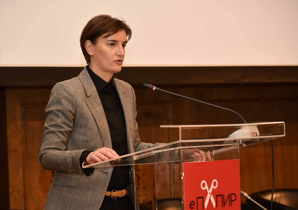 Project e-Paper To Reduce The Administrative Burden On The Economy Ana Brnabic