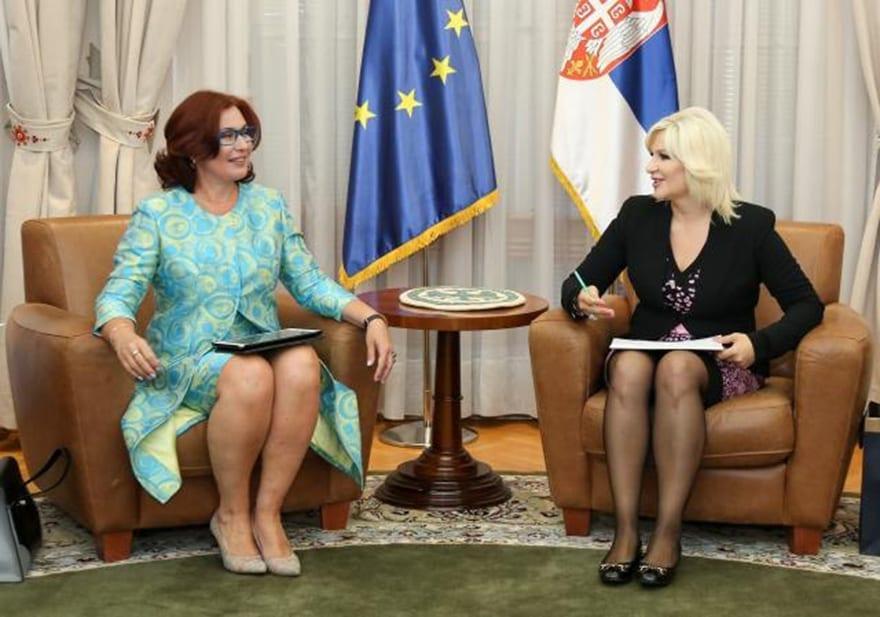 Deputy PM Meets With President Of FIC Serbia Yana Mikhailova Zorana Mihajlovic