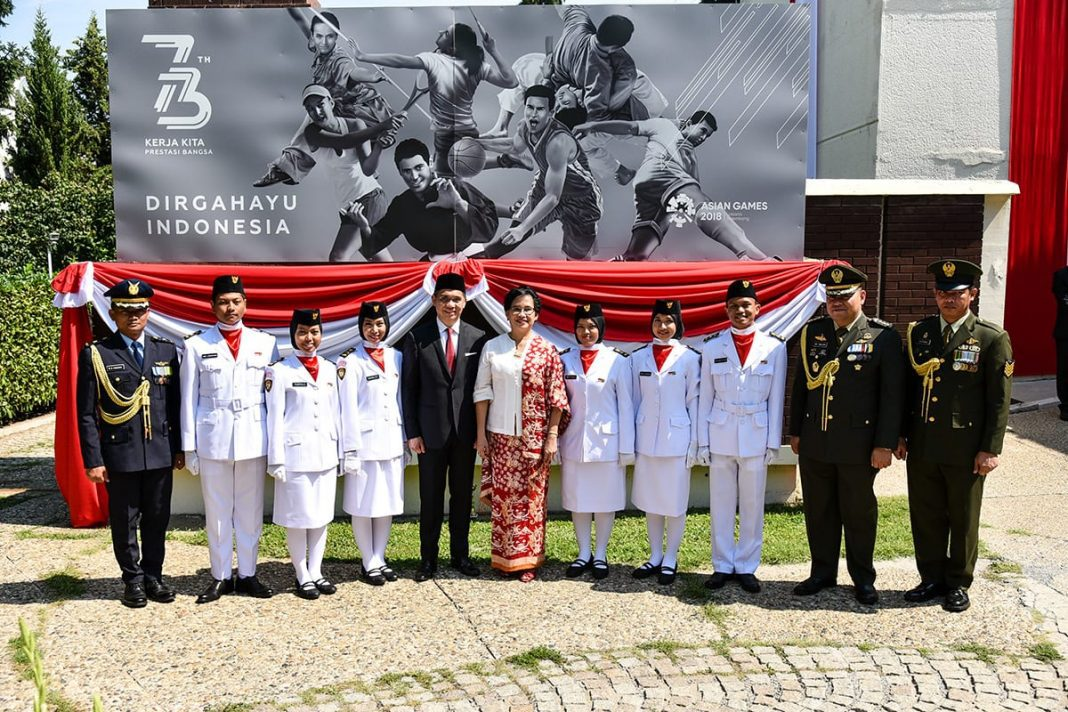 Independence Day of the Republic of Indonesia Flag ceremony