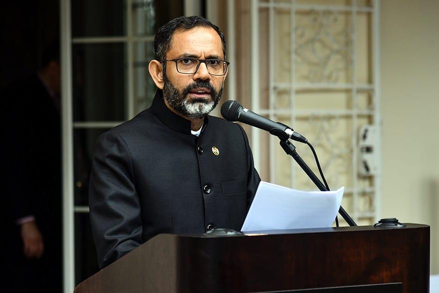 Indian Ambassador Subrata Bhattacharjee
