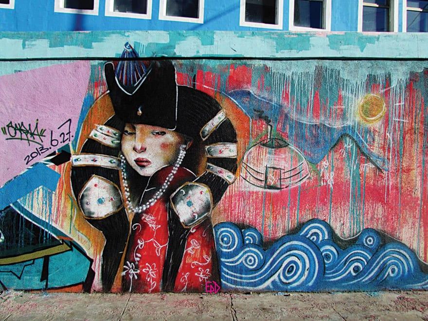 Contemporary Art Of Mongoli, Street-art
