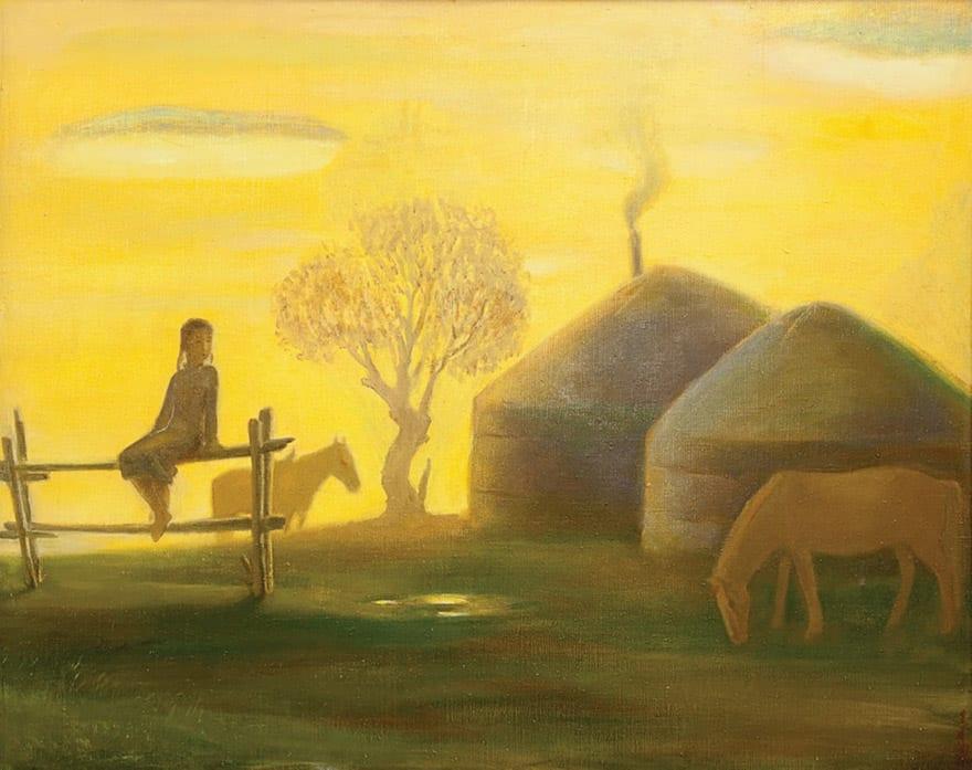 Contemporary Art Of Mongoli, Erdenebileg, Peacefull Evening