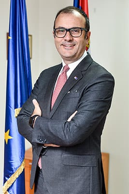 H.E. Sem Fabrici, Ambassador and Head of the Delegation of the European Union to the Republic of Serbia