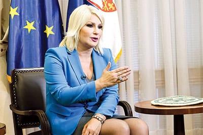 Zorana Mihajlović, Serbian Deputy Prime Minister and Minister of Construction, Transport and Infrastructure