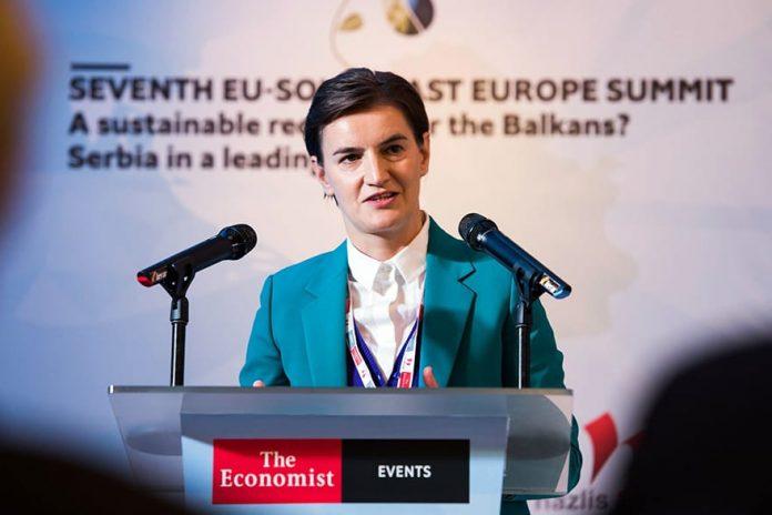 Serbia's interests EU membership, stable region Ana Brnabic