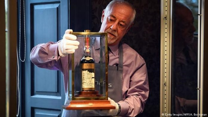 Rolls-Royce of whisky fetches record $1 million at auction