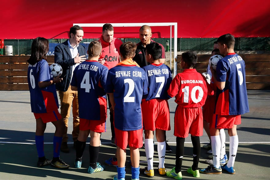 Eurobank Brings Manchester United Soccer School to Serbia for the First Time