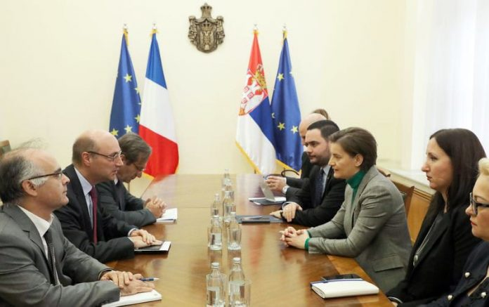 Brnabic Mondoloni Macron's visit to boost Serbia-France cooperation