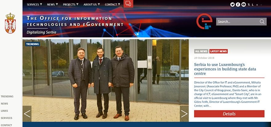 The Office for IT and eGovernance launches new website