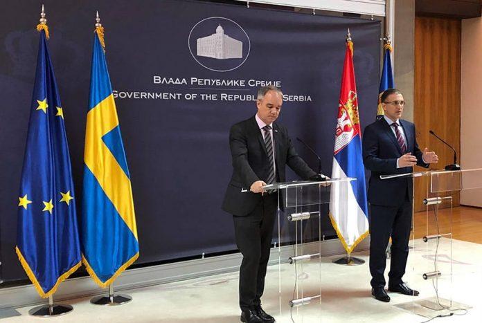 Sweden invests in the Serbian Police reform Jan Lundin Nebojsa Stefanovic