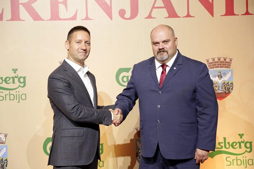 Vladimir Vava Čedomir Janjić Carlsberg launches production of Zrenjanin beer