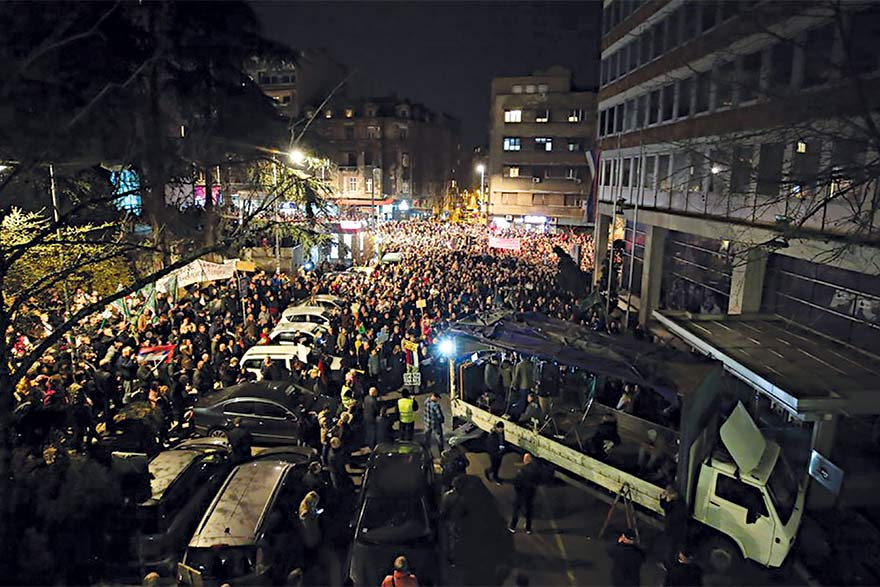 Protests in Serbia Radicalised
