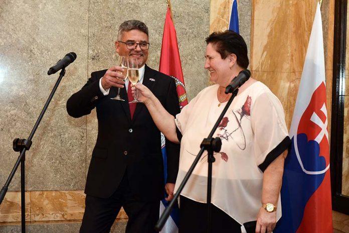 Tomáš Kuchta Dagmar Repčeková The Czech and Slovak Embassies Marked Three Significant Anniversaries