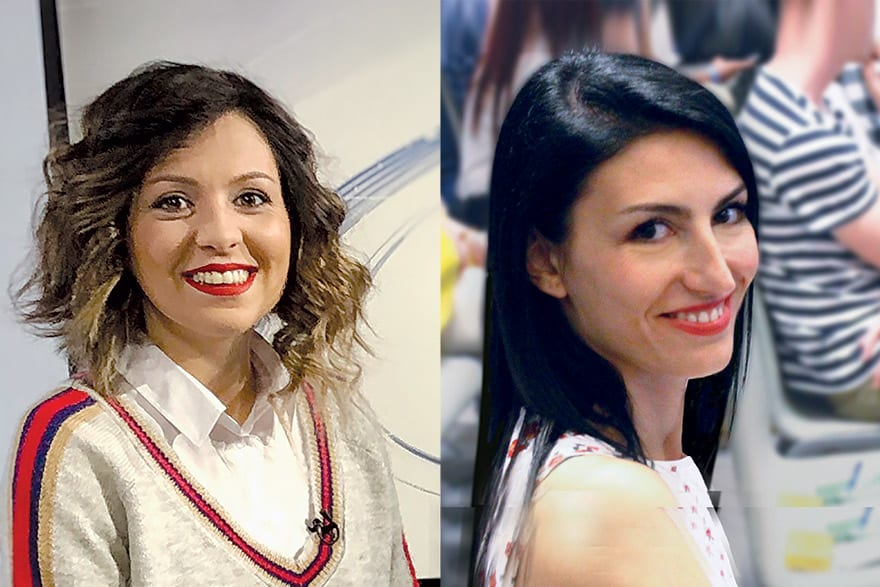 Milica Radović Mandić and Milica Nastasić, co-founders of @ITkonekt