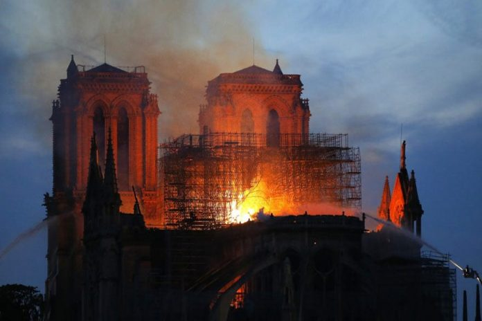 A Massive Fire At The Notre Dame Cathedral