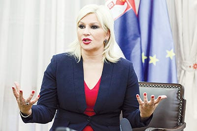 Zorana Mihajlović, Serbian Deputy Prime Minister and Minister of Construction, Transport and Infrastructure