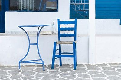 Beautiful Greek Taverna Chair