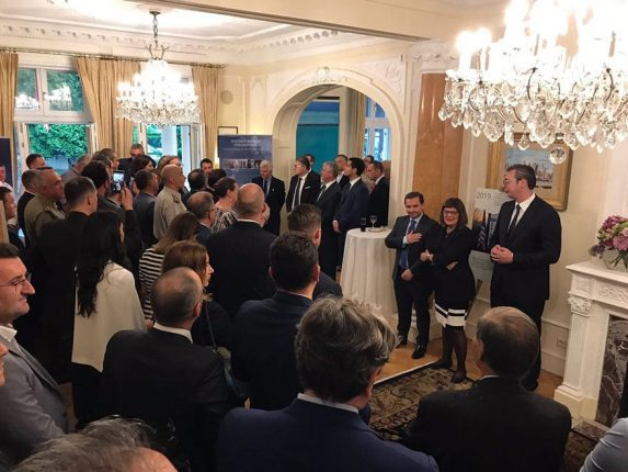 Ambassador Kyle Scott hosts President Vucic