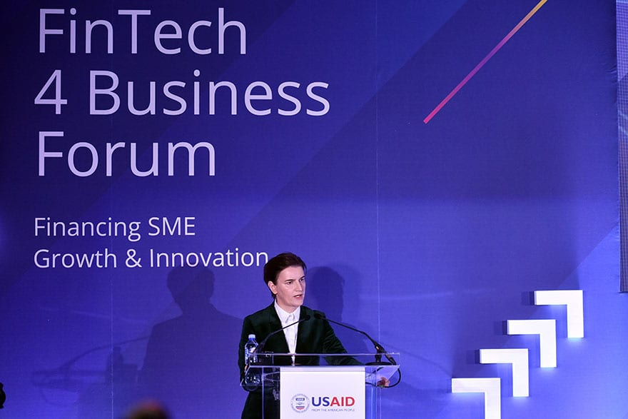 Ana Brnabic FinTech 4 Business USAID US Embassy