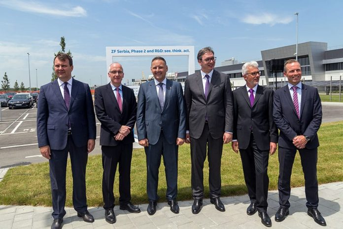 Germany's ZF opens factory in Pančevo Thomas Schieb Aleksandar Vucic