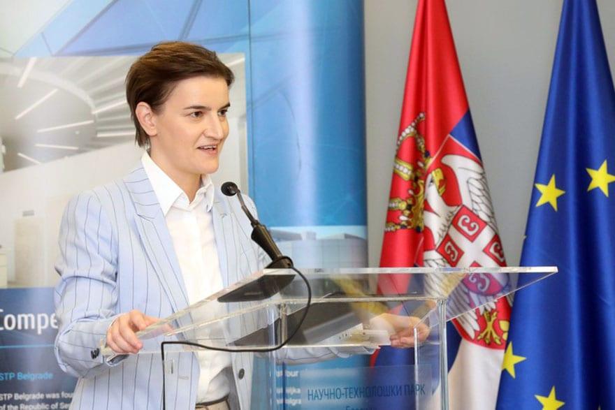 Ana Brnabic Slovak Serbian Business Forum