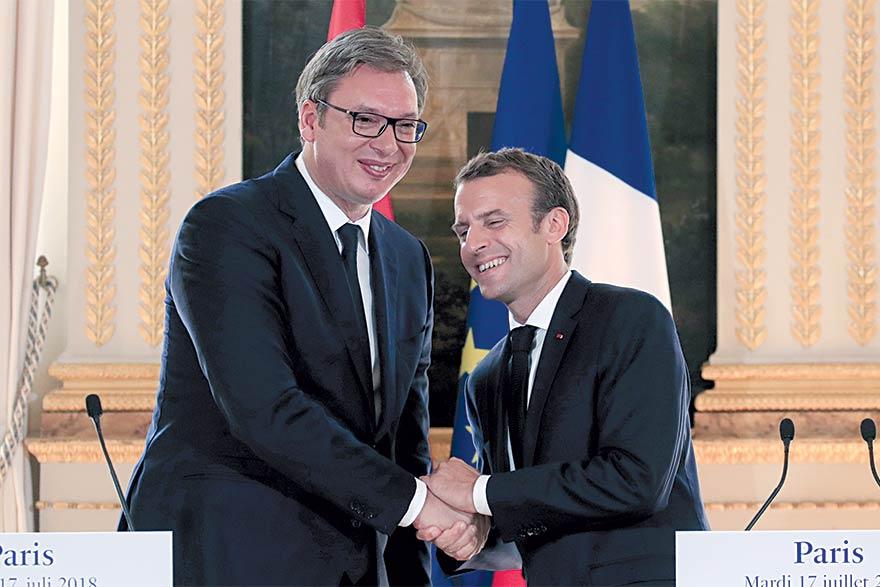 Aleksandar Vucic Emmanuel Macron