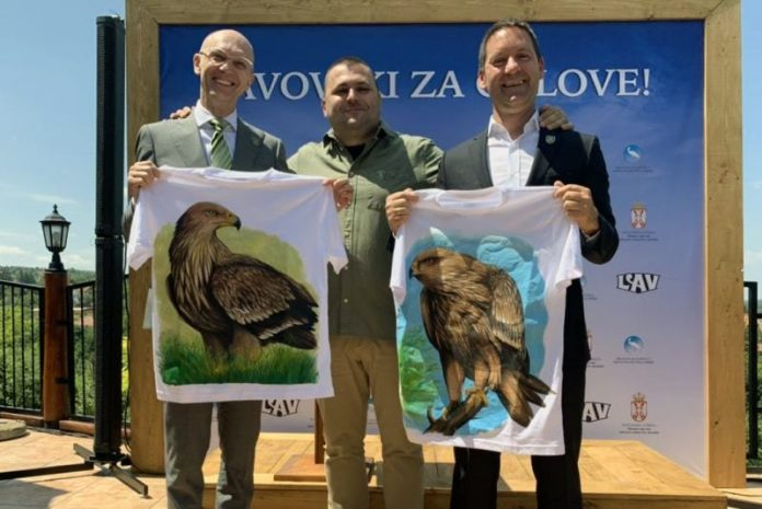 Vladimir Vava Carslberg Goran Trivan Campaign to save eastern imperial eagles in Serbia
