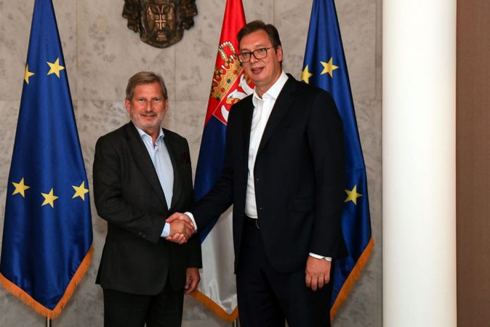 Commissioner Johannes Hahn Visits Serbia