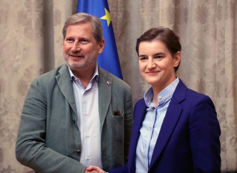 Ana Brnabic Johannes Hahn