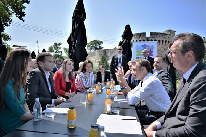Macron Vučić We Share Views of Young People in Western Balkans