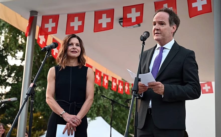 Philippe Guex Françoise Emmenegger National Day of Switzerland 2019