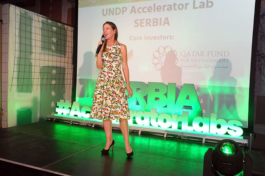 Francine Pickup UNDP Serbia presents Accelerator Lab