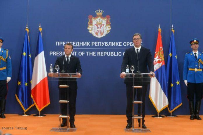 Emmanuel Macron Aleksandar Vucic press conference
