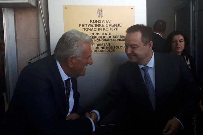 Ivica Dacic Consulate of Serbia opens in Edrine Turkey