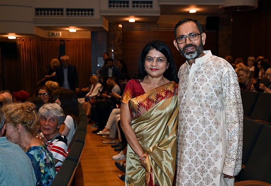 Ambassador of India Subrata Bhattacharjee and Mrs Bhattacharjee