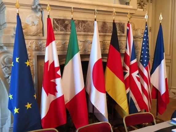 G7 France countries flags