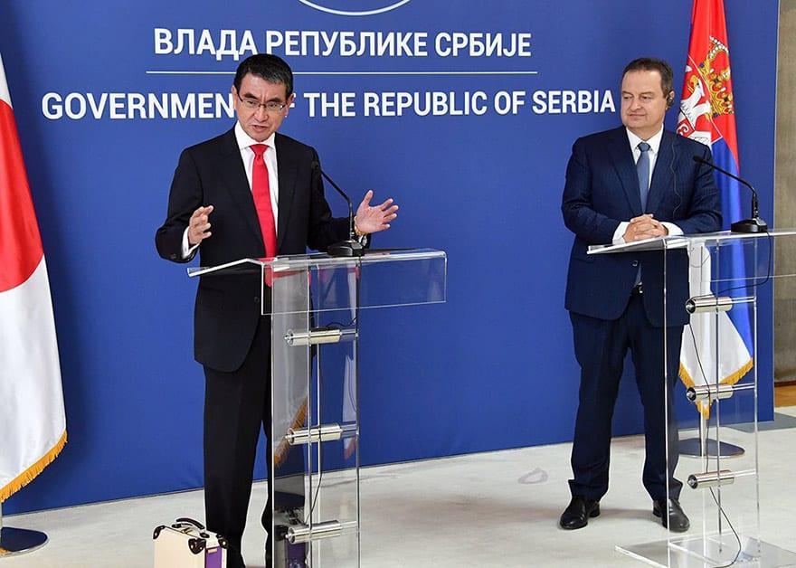 Serbia- Japan, Tarō, Kōno and Ivica Dacic