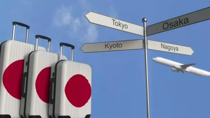 Japan flag travel