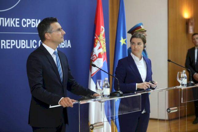 Ana Brnabic Marjan Sarec press conference